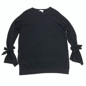 1. State | Black Sweater Bow Tie Sleeve Size M